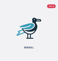 two color seagull icon from nautical concept vector image