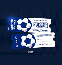 Two modern professional design of football tickets vector