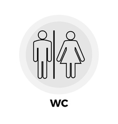 WC Line Icon vector image