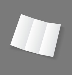 White open lying blank trifold paper brochure vector