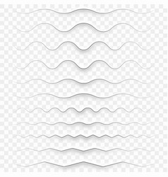 white paper decorative dividers eps 10 vector image