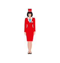 Woman in a red suit vector