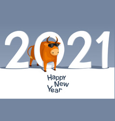 year bull 2021 vector image