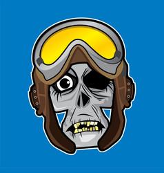 Zombie head - world war pilot vector
