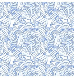 Abstract seamless pattern with flowers hair type vector image vector image