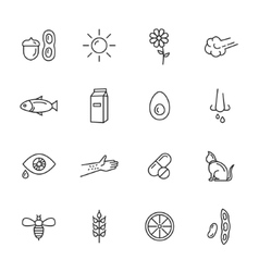 Allergy Icons vector image vector image