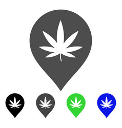 cannabis marker flat icon vector image