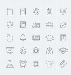 education thin line symbol icon vector image vector image