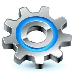 gear settings icon vector image vector image