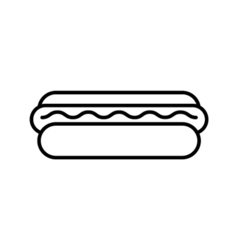 hot dog outline icon vector image