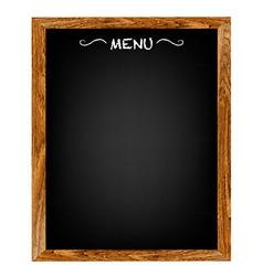 Restaurant Menu Wood Board vector image