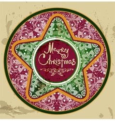 retro christmas star vector image