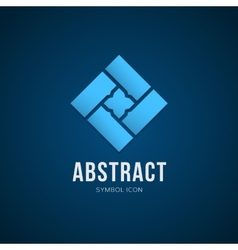 Abstract Concept Symbol Icon or Logo Template vector image vector image