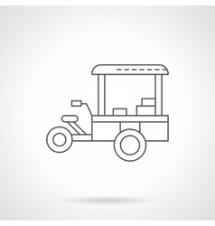 Coffee trailer flat thin line icon vector image vector image