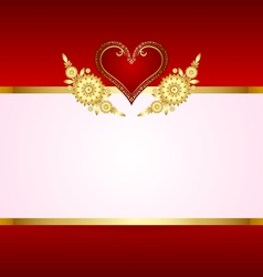 heart decoration with copy space vector image vector image