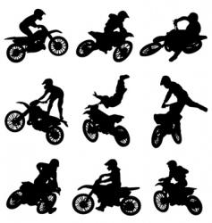 motor cross freestyle set vector image vector image