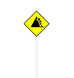 Possible falling stone sign vector image vector image