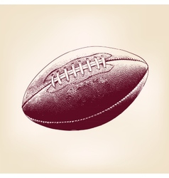 rugby ball hand drawn llustration realistic sketch vector image vector image