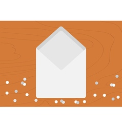 White Opened Blank Envelope empty letter Realistic vector image