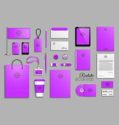 corporate identity template set vector image