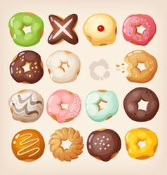 Doughnuts in a box vector image