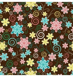 Ornate floral seamless texture vector image vector image