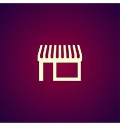 Store icon modern flat design vector image