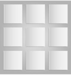 Blank empty magazine or book mock up nine vector