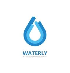 Blue water drop logo vector image