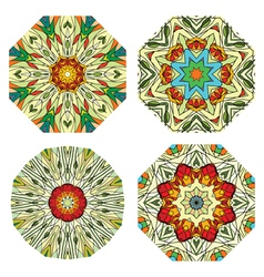 colorful ethnicity round ornament vector image