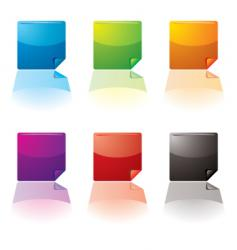 curl buttons vector image vector image