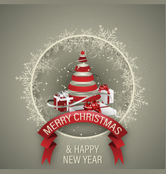holiday background merry christmas and happy new vector image