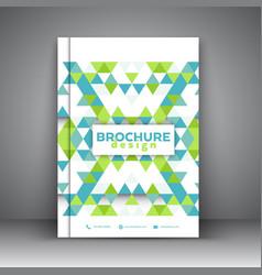 Low poly brochure design vector