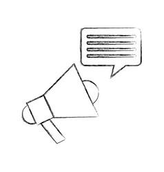 megaphone sound with speech bubble vector image