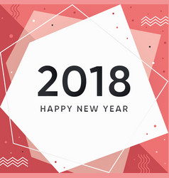 modern new year 2018 vector image