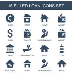 16 loan icons vector