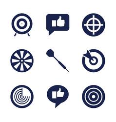 9 aim icons vector