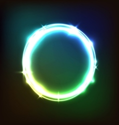 Abstract glowing colorful background with circles vector image