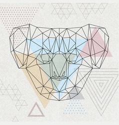 Abstract polygonal tirangle animal koala hipster vector