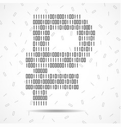 abstract sign ruble binary code technology vector image