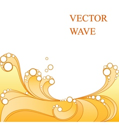 Abstract yellow wave vector image vector image