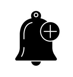 Add alert glyph icon vector