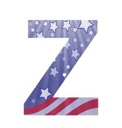 american letter Z vector image