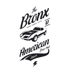 American muscle car tee-shirt logo vector