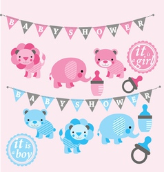 Baby shower kit vector image