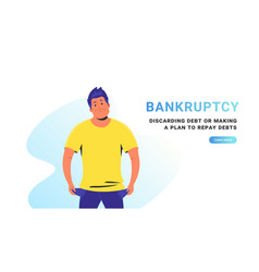 bankruptcy and financial crisis vector image