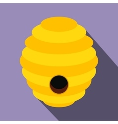 Bee hive flat icon vector
