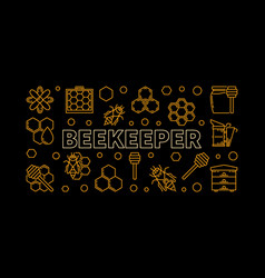 beekeeper horizontal linear or vector image