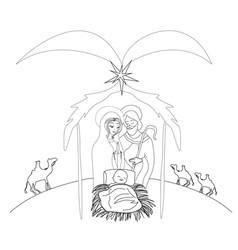 Birth jesus vector