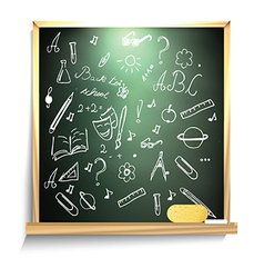 Blackboard design vector image